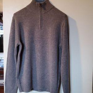 J crew half zipper lamb wool sweater